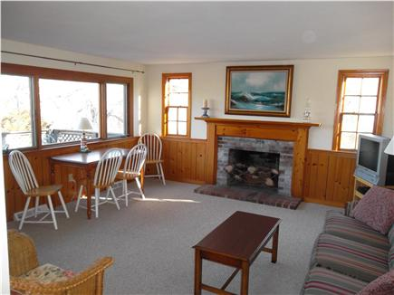 Brewster Cape Cod vacation rental - Enter the bright and open living room from your private deck