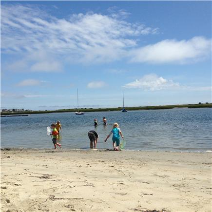Yarmouth, Bass river Cape Cod vacation rental - Judah Baker Windmill Beach sandy area at bottom of stairs