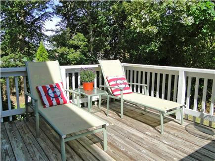 Pocasset Pocasset vacation rental - Side deck off kitchen, perfect for morning coffee and reading