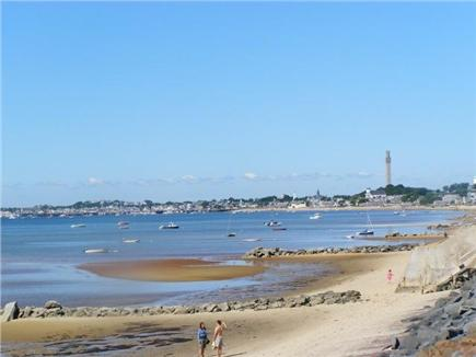 Provincetown, East End Cape Cod vacation rental - The view down the beach toward Provincetown center