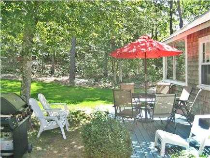 HarwichPort Cape Cod vacation rental - Back yard and Patio area