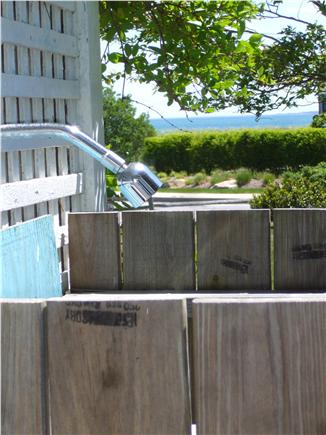 Falmouth Heights Cape Cod vacation rental - Outdoor shower with ocean in background