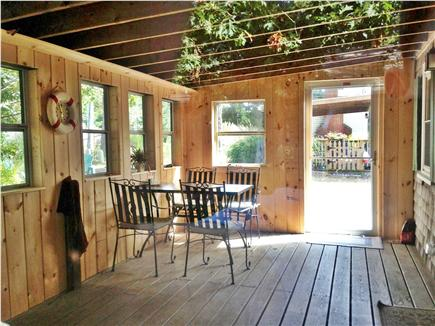 Eastham Cape Cod vacation rental - The enclosed patio