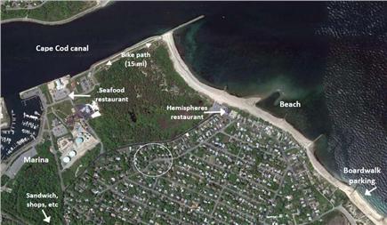 Sandwich Cape Cod vacation rental - Location... beach, canal, exercise path, restarants, marina, etc