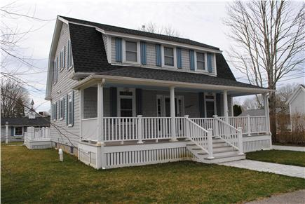 Falmouth Cape Cod vacation rental - Front porch has a cozy swing and a bistro table that seats four.