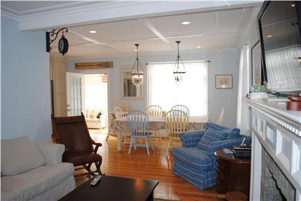 Falmouth Cape Cod vacation rental - View from the living room into the dining room.