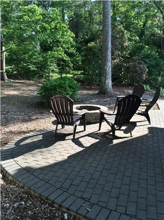 Falmouth, Sippewissett Cape Cod vacation rental - Shady, private back yard with fire pit