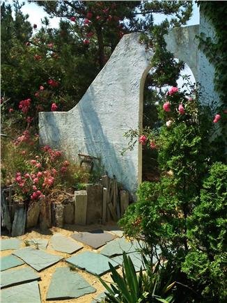 North Truro Cape Cod vacation rental - Arch with roses