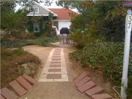 North Truro Cape Cod vacation rental - Entrance to house from driveway