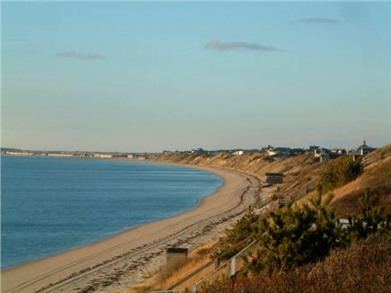 North Truro Cape Cod vacation rental - View from deck towards Provincetowm