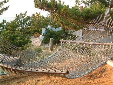 North Truro Cape Cod vacation rental - Relax on hammock with water view
