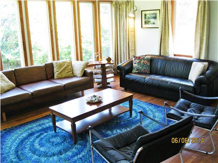 East Sandwich Cape Cod vacation rental - Living room, enjoy the sunrise or the birds or the TV.