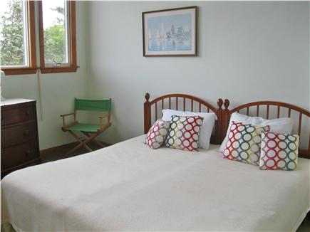 East Sandwich Cape Cod vacation rental - Green bedroom with king bed or slide apart for 2 singles.