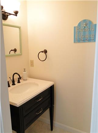 Harwich Cape Cod vacation rental - Master bath with new vanity and fixtures