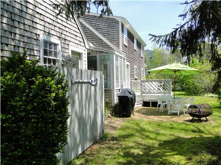 Harwich Cape Cod vacation rental - Relax on the back deck and patio; outdoor shower