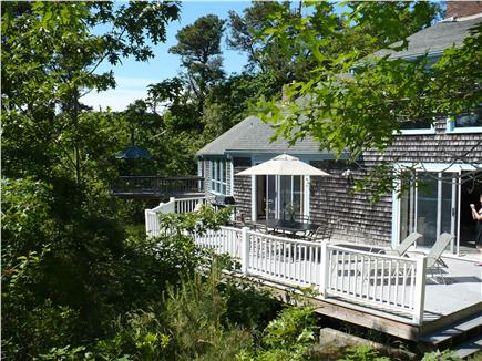 Orleans Cape Cod vacation rental - Spacious deck with water views