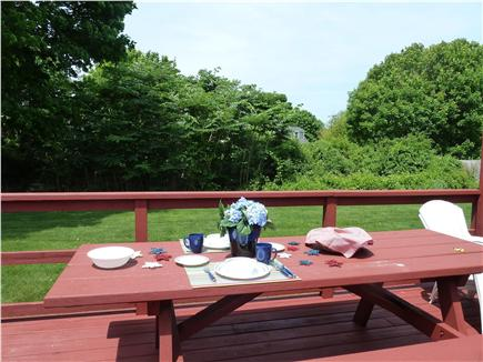 Falmouth Cape Cod vacation rental - Picnic on the deck