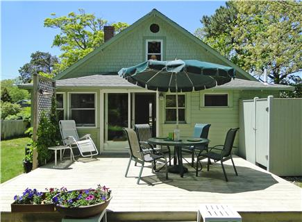 BREWSTER Cape Cod vacation rental - Back Deck with outdoor shower