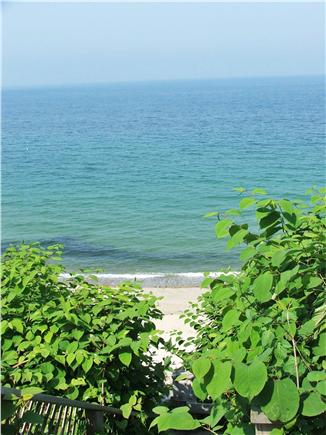 Plymouth, Manomet MA vacation rental - Stairs across from the cottage to Private Beach, view to P'town