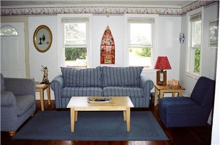 Falmouth Cape Cod vacation rental - Other side of living room with TV