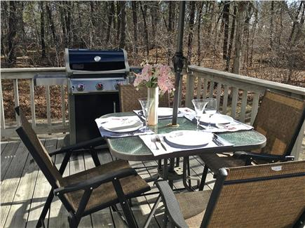 Harwich Cape Cod vacation rental - Great deck for dining with brand new Weber grill & just relaxing