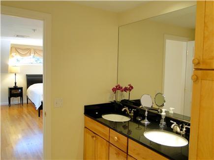 Wellfleet Cape Cod vacation rental - Master bath with double sinks, shower