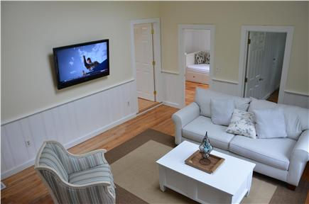South Yarmouth Cape Cod vacation rental - Great/Family room with cathedral ceiling & flat screen TV
