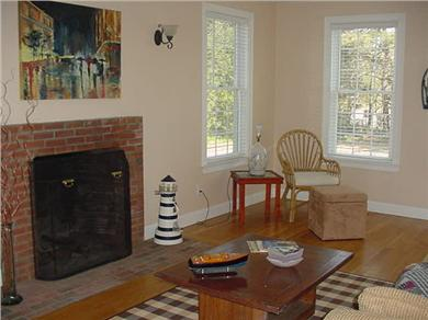 Eastham Cape Cod vacation rental - Large living room with high ceillings, large windows and 1/2 bath