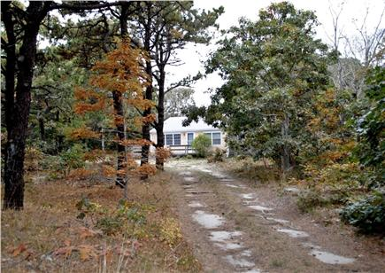 North Eastham Cape Cod vacation rental - View of cottage from end of horseshoe driveway