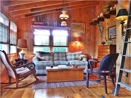Provincetown Cape Cod vacation rental - Living Room with Open Ceiling