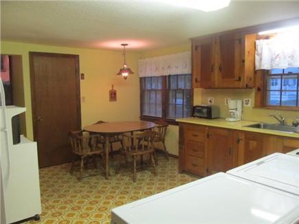 Popponesset, Mashpee Cape Cod vacation rental - Eat-in kitchen with washer/dryer