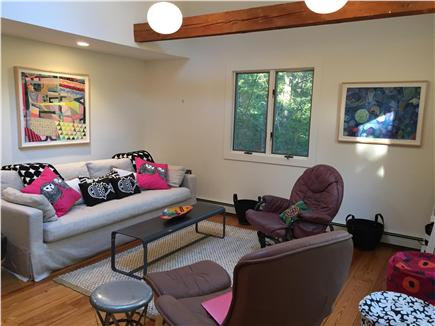 Wellfleet Cape Cod vacation rental - Spacious living room offers comfortable seating
