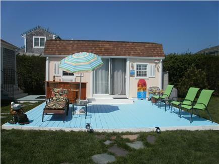Falmouth, Surf Beach Cape Cod vacation rental - Your private lower deck for Outdoor Cape Cod living at its best!