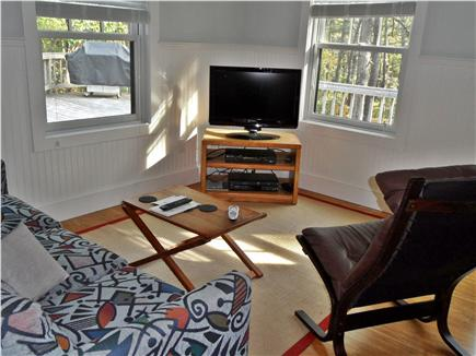 Wellfleet Cape Cod vacation rental - TV room with fold-out couch