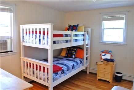 Sandwich (Town Neck) Cape Cod vacation rental - 2nd floor bedroom with twin bunks