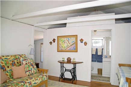Harwichport, near Bank Street  Cape Cod vacation rental - Cottage living room with queen futon