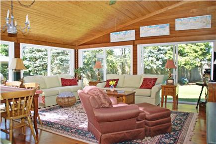 Harwichport, near Bank Street  Cape Cod vacation rental - Large family room opens to backyard gardens