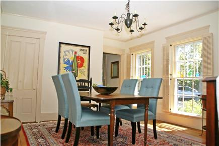 Harwichport, near Bank Street  Cape Cod vacation rental - Dining room with floor to ceiling windows