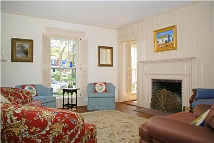 Harwichport, near Bank Street  Cape Cod vacation rental - Spacious living room with fireplace