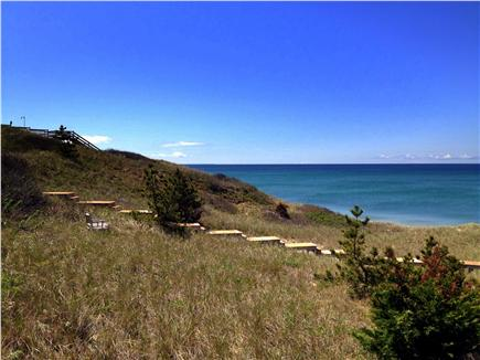 TRURO Cape Cod vacation rental - View of the Bay from association stairs