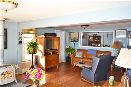 kingston MA vacation rental - Cozy living room with home theater system