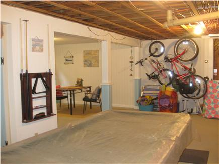 Brewster Cape Cod vacation rental - Family/game room with pool table, bikes and beach items