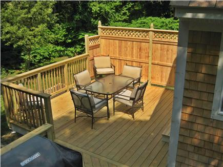 Brewster Cape Cod vacation rental - Large new deck with BBQ grill