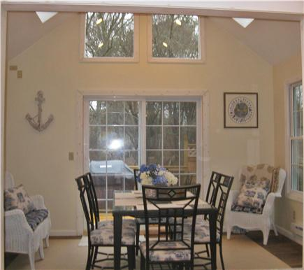 Brewster Cape Cod vacation rental - New Sunroom with cathedral ceiling and fan