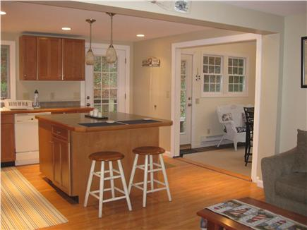 Brewster Cape Cod vacation rental - Open Kitchen to Living room and Sunroom