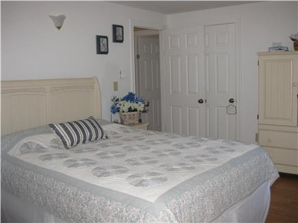Brewster Cape Cod vacation rental - First floor Master queen bed and armoire