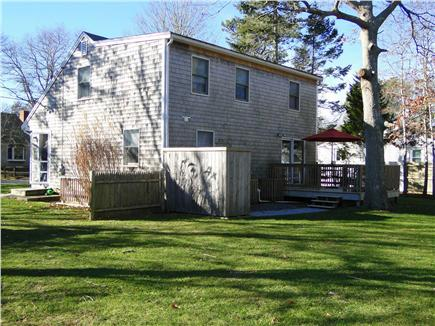 West Yarmouth Cape Cod vacation rental - Spacious back yard area and deck - great for families