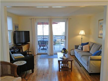 West Yarmouth Cape Cod vacation rental - Living area with 42'' LCD TV and slider to deck