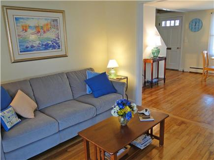 West Yarmouth Cape Cod vacation rental - Living room with hardwood floors, open to dining area