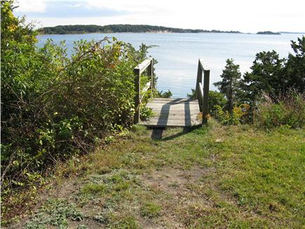 East Orleans Cape Cod vacation rental - Approaching steps to the beach